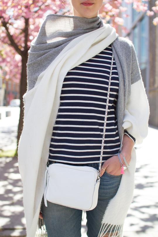 Thankfifi- Boden breton stripes & Asos colour block cape - cherry blossom street style in London-13