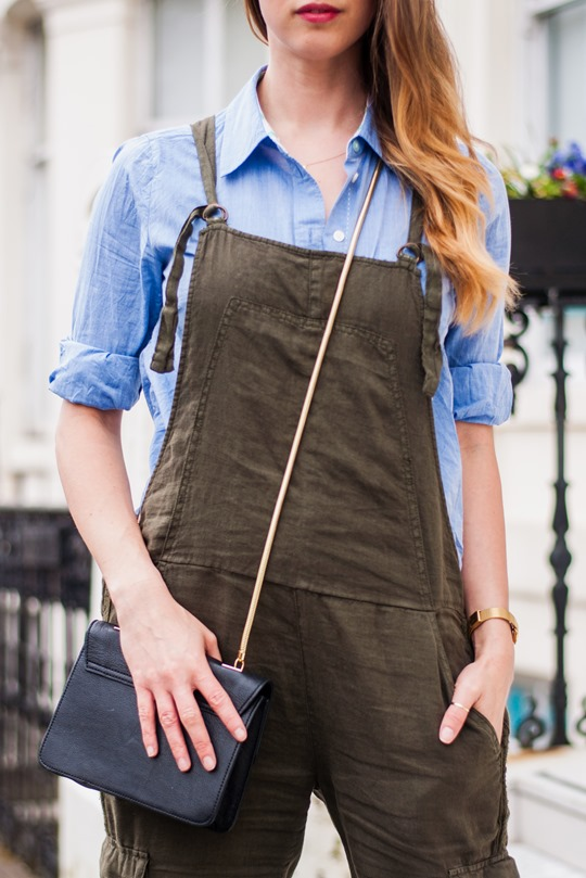 Thankfifi- Khaki overalls & the cutest puppy in the world-8