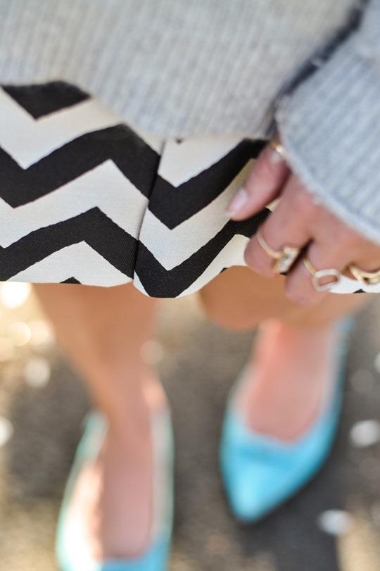 Thankfifi- Reiss chevron stripe culottes & Boden Polly Point flats-11