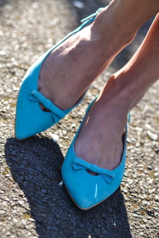 Thankfifi- Reiss chevron stripe culottes & Boden Polly Point flats-14