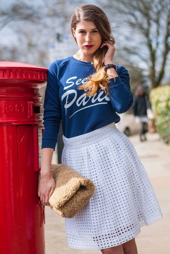 Thankfifi- See you in Paris & the Next borderie anglaise pleated skirt-12