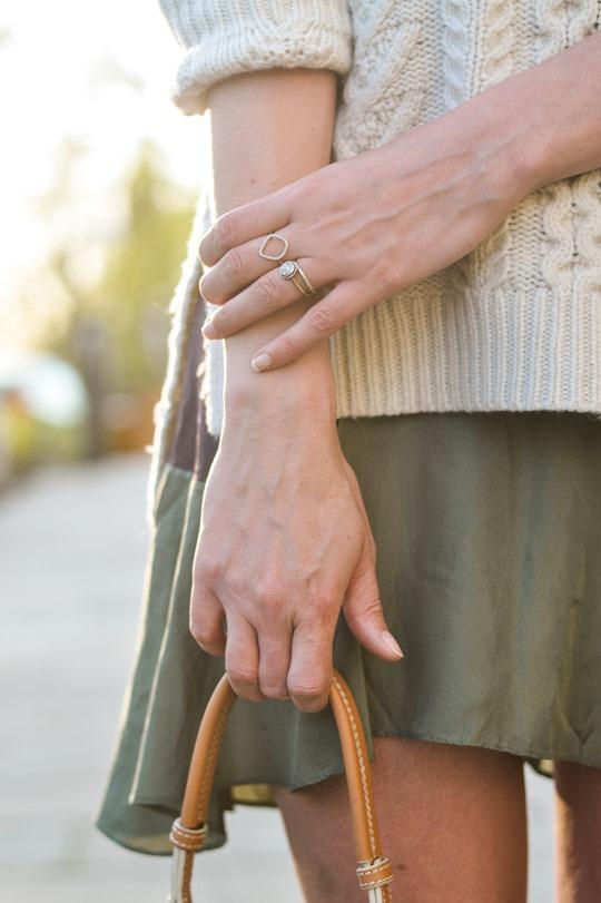 Thankfifi- Spring street style in Gant Rugger cable knit & Carven Paris Vestiaire skirt-2