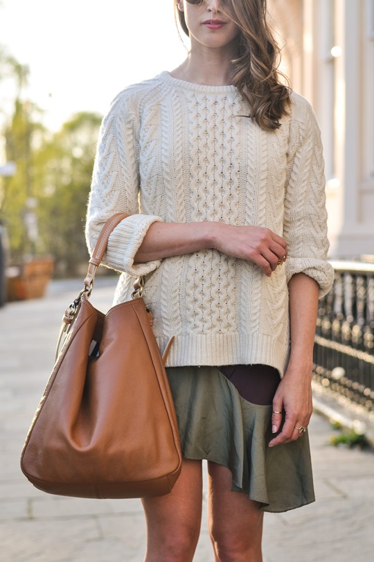 Thankfifi- Spring street style in Gant Rugger cable knit & Carven Paris Vestiaire skirt-3