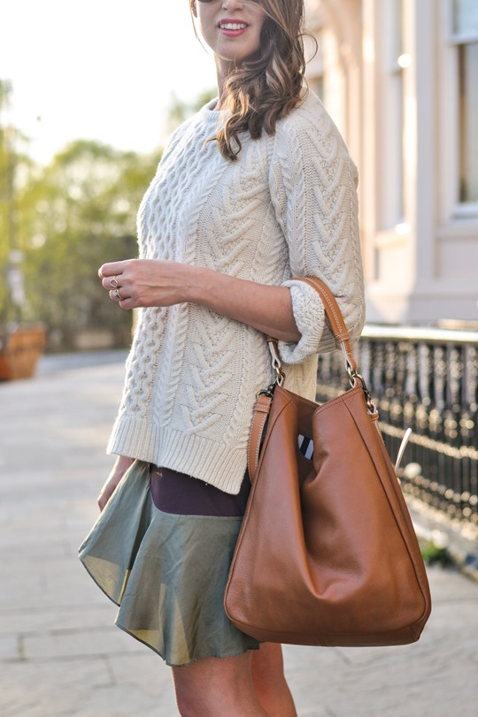 Thankfifi- Spring street style in Gant Rugger cable knit & Carven Paris Vestiaire skirt-4