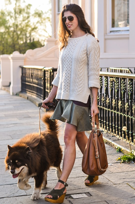 Thankfifi- Spring street style in Gant Rugger cable knit & Carven Paris Vestiaire skirt-7