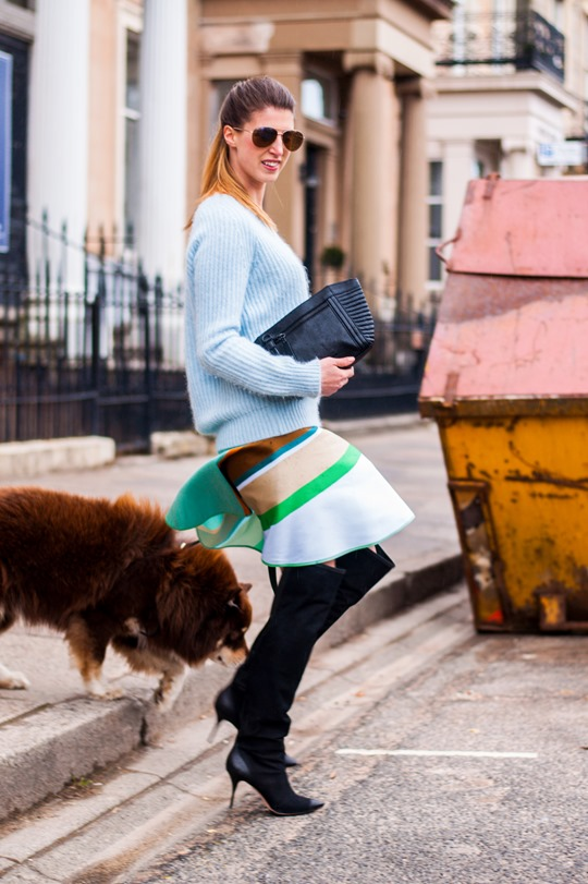 Thankfifi- Spring styling - Ostwald Helgason stripe skirt w. Sophia Webster over the knee Hallie boots-14