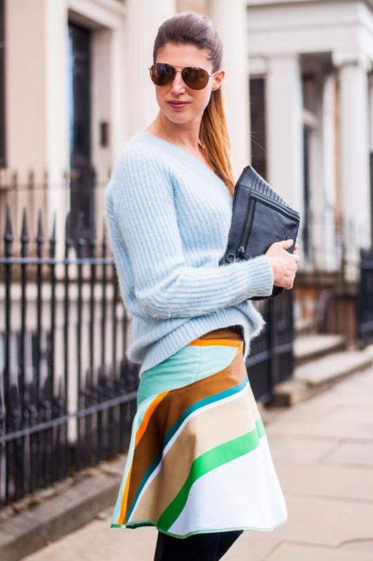 Thankfifi- Spring styling - Ostwald Helgason stripe skirt w. Sophia Webster over the knee Hallie boots-7