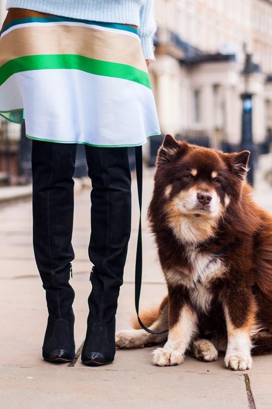 Thankfifi- Spring styling - Ostwald Helgason stripe skirt w. Sophia Webster over the knee Hallie boots-9