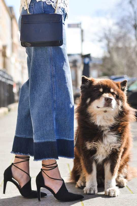Thankfifi- The H&M Trend denim culottes & crochet lace-12