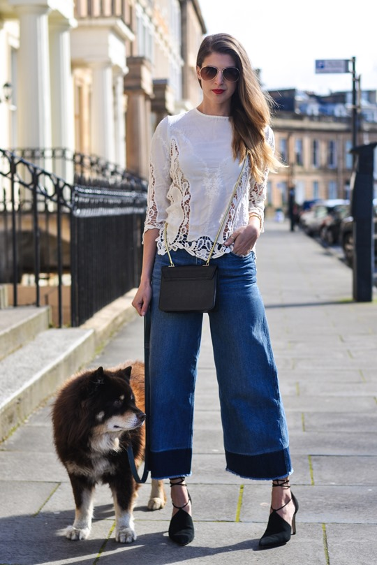Thankfifi- The H&M Trend denim culottes & crochet lace-4