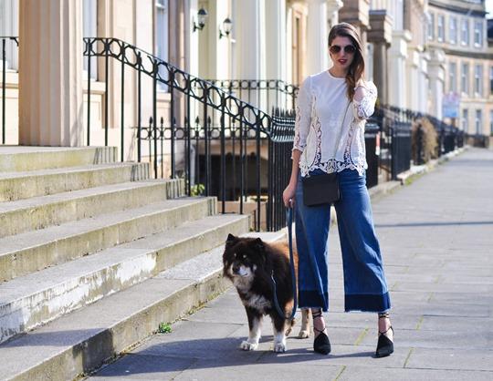 Thankfifi- The H&M Trend denim culottes & crochet lace-5