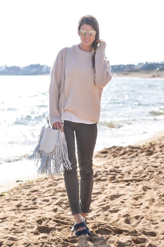 Thankfifi- White fringed bag & Birks - beach style-3