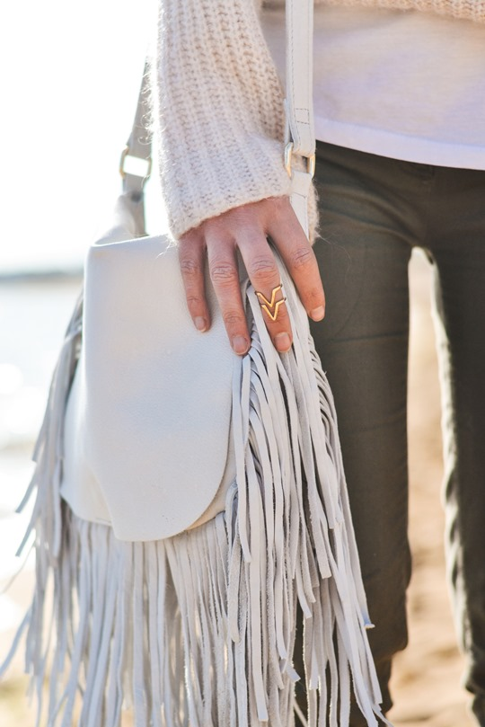 Thankfifi- White fringed bag & Birks - beach style-6
