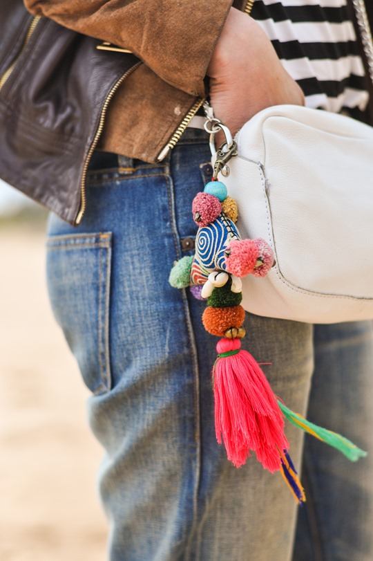Thankfifi- Bali tassel bag charm - fashion blogger beach style