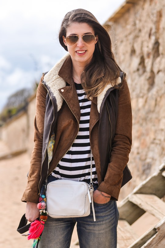 Thankfifi- Beach style in Ted Baker shearling layers-3