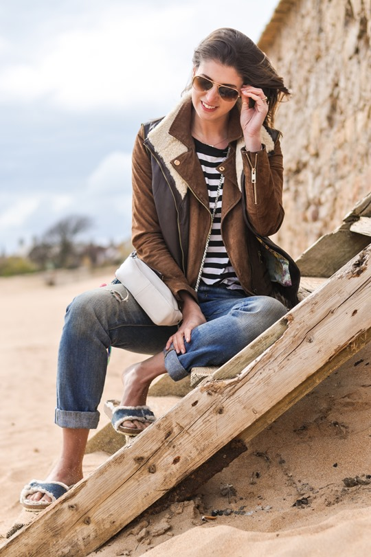 Thankfifi- Beach style in Ted Baker shearling layers-6