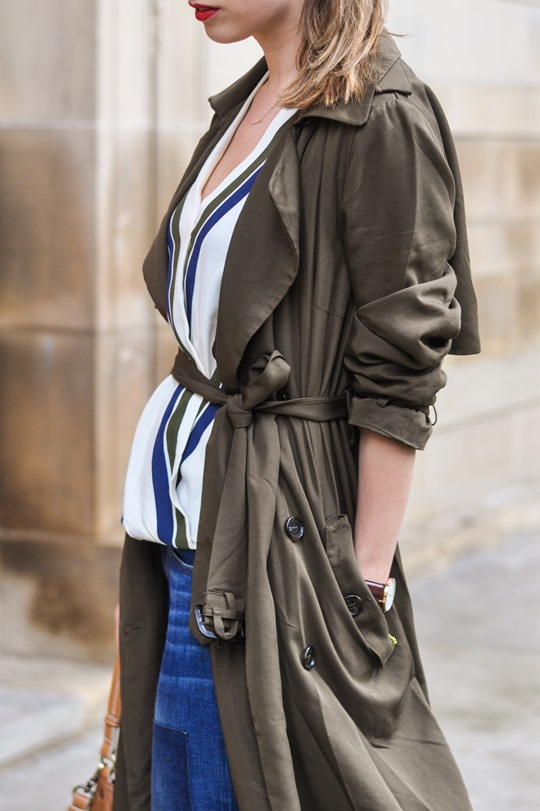 Thankfifi- F&F khaki trench & Boden Lille lace up flats-11