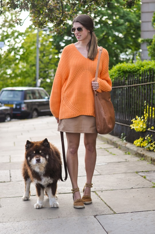 Thankfifi- H&M Trend oversize orange jumper