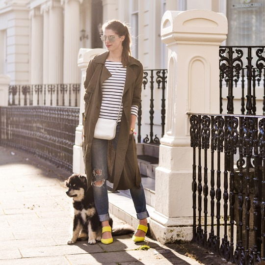 Thankfifi- Street style in F&F khaki trench coat-6