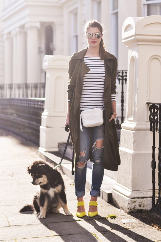 Thankfifi- Street style in F&F khaki trench coat