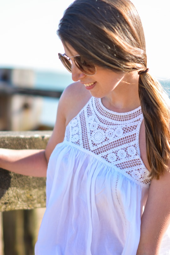 Thankfifi- Corchet lace dress & leather lace up gladiators on #NextBloggerIsland-12