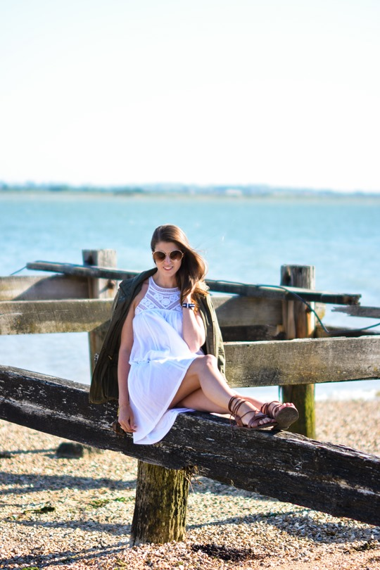 Thankfifi- Corchet lace dress & leather lace up gladiators on #NextBloggerIsland-14