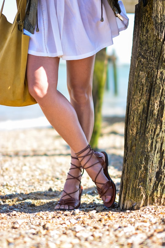 Thankfifi- Corchet lace dress & leather lace up gladiators on #NextBloggerIsland-8