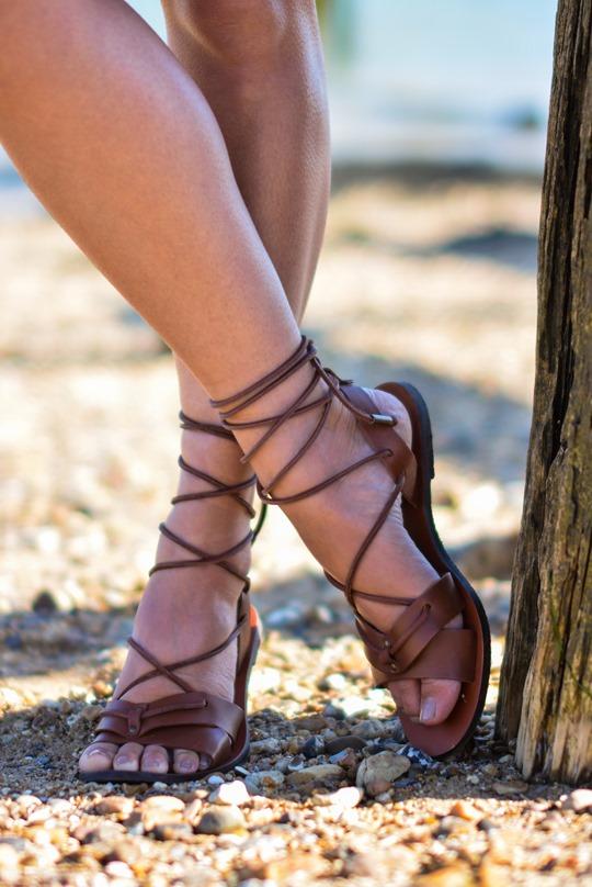 Thankfifi- Corchet lace dress & leather lace up gladiators on #NextBloggerIsland-9