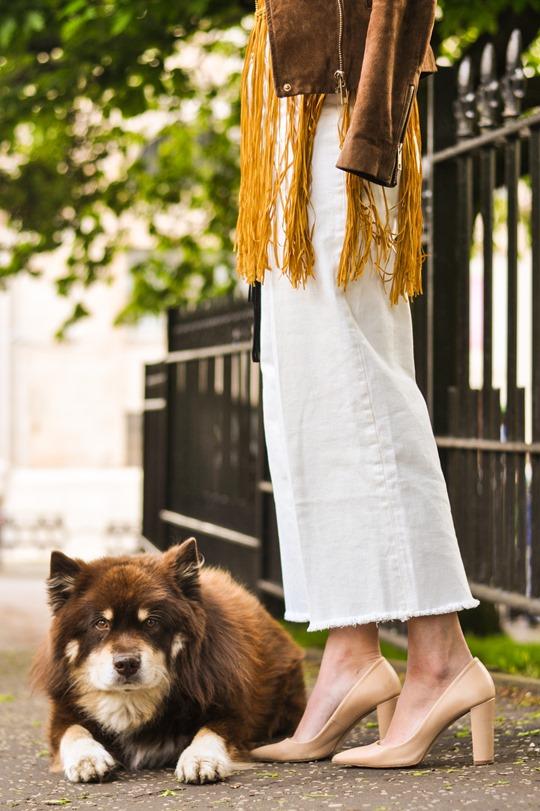 Thankfifi- Next fringe tassel top & H&M Trend white culottes-10