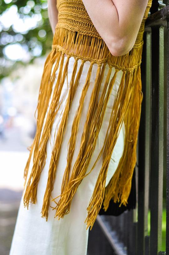 Thankfifi- Next fringe tassel top & H&M Trend white culottes-7