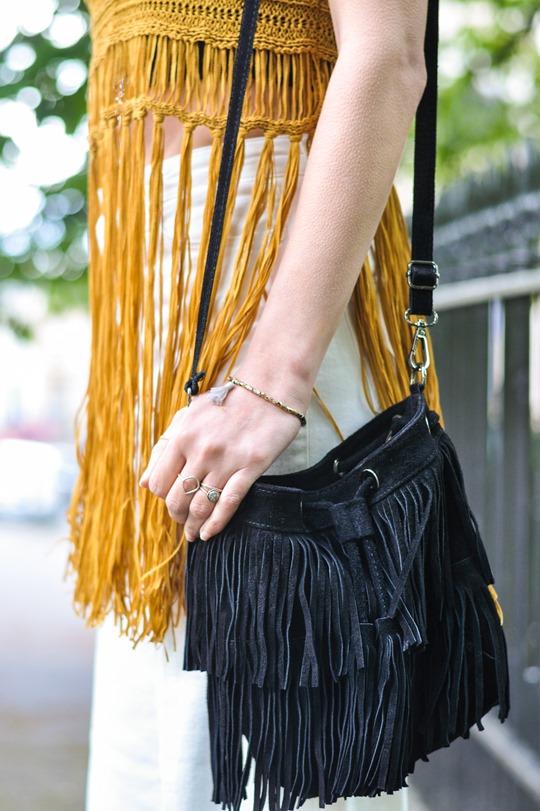 Thankfifi- Next fringe tassel top & H&M Trend white culottes-9