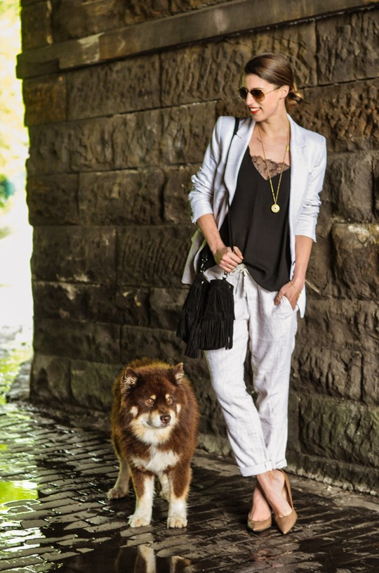 Thankfifi- Summer suiting with Gap Factory linen cargo pant-2