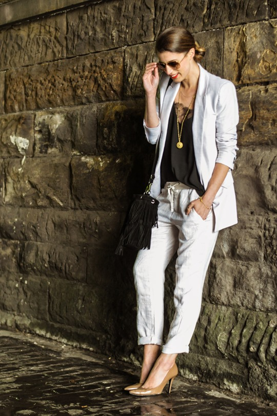 Thankfifi- Summer suiting with Gap Factory linen cargo pant-3
