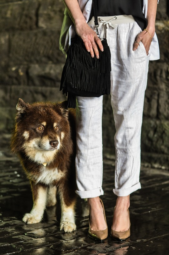 Thankfifi- Summer suiting with Gap Factory linen cargo pant-7