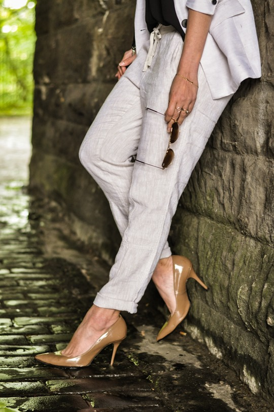 Thankfifi- Summer suiting with Gap Factory linen cargo pant-8