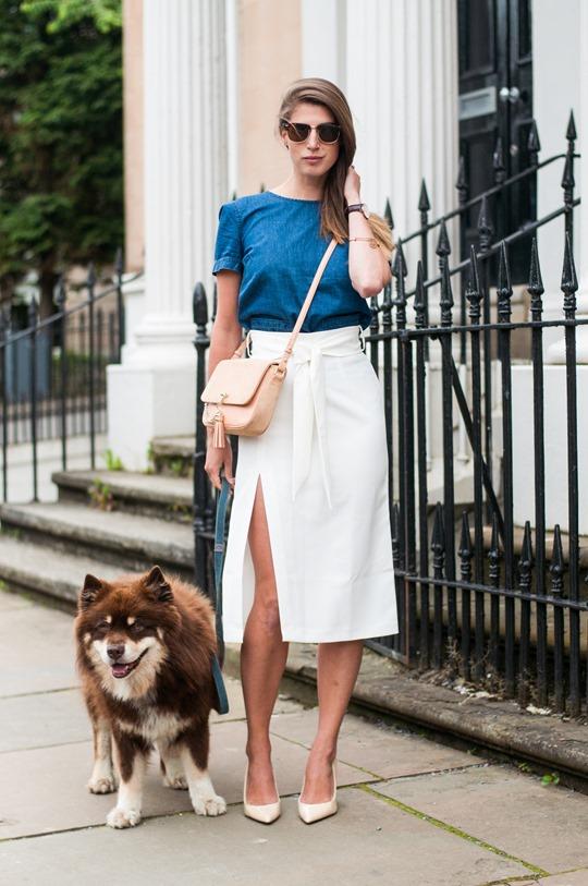 Asos Front Split Skirt Glasgow Fashion Blogger Thankfifi