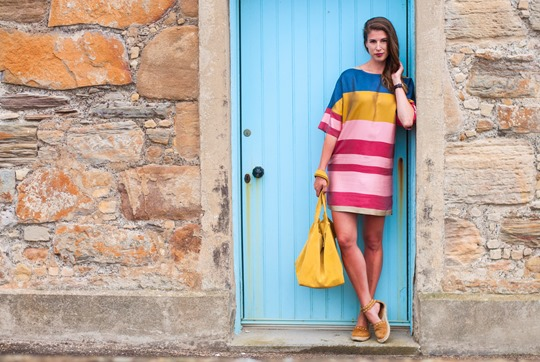 Thankfifi- Mango colour block shift dress in Elie, Scottish seaside staycation-13