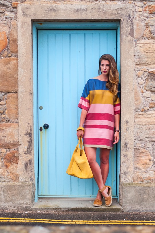Thankfifi- Mango colour block shift dress in Elie, Scottish seaside staycation-2