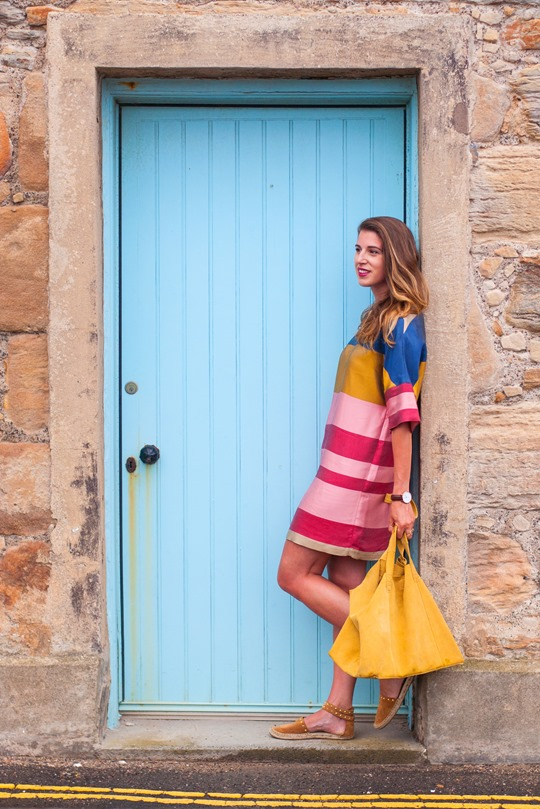 Thankfifi- Mango colour block shift dress in Elie, Scottish seaside staycation-3