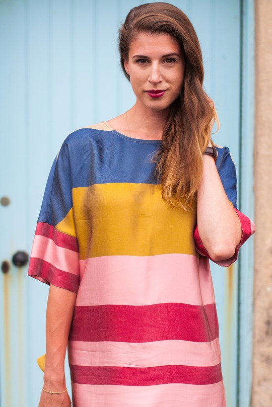 Thankfifi- Mango colour block shift dress in Elie, Scottish seaside staycation-6