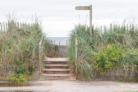 Thankfifi- Troon beach, Scotland - T by Alexander Wang stripe tank & Reiss yellow fedora-11