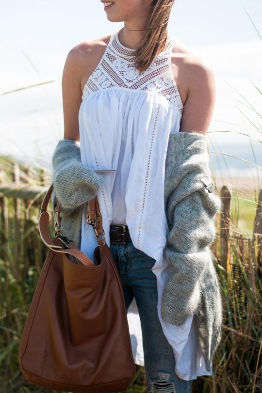 Thankfifi- Troon beach style in Next crochet neck white dress-3