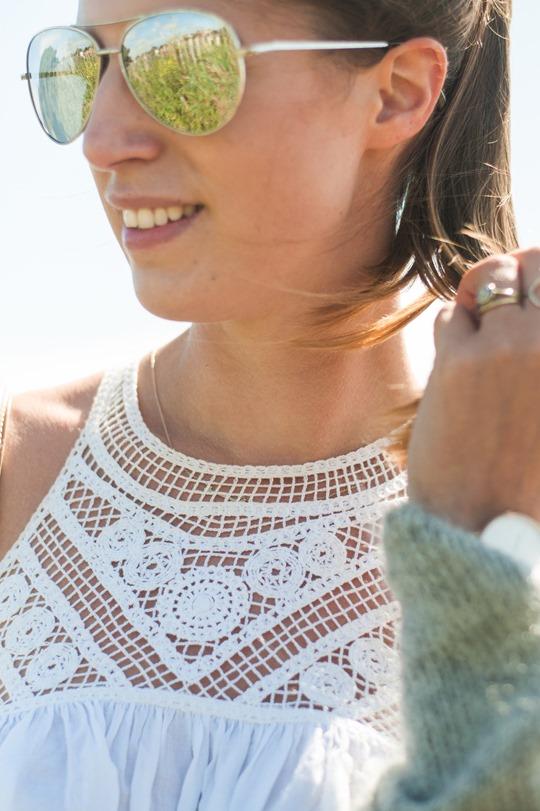 Thankfifi- Troon beach style in Next crochet neck white dress-5