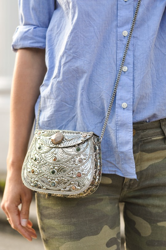 Thankfifi- Camo jeans & metal box clutch - fashion blogger street style-13
