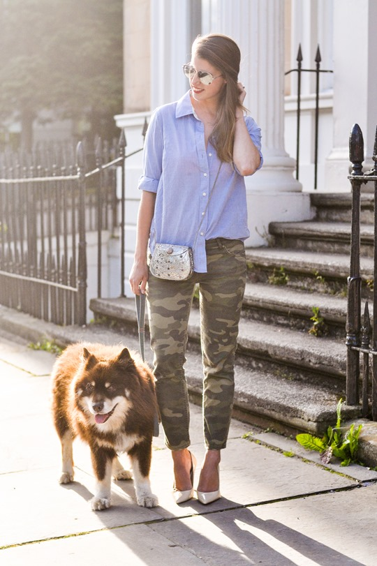 Thankfifi- Camo jeans & metal box clutch - fashion blogger street style-5