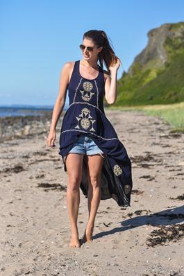 Thankfifi- Monsoon embroidered beach dress-2