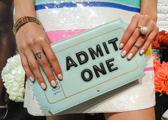 Thankfifi- Kate Spade SS16 Presentation New York Fashion Week cinema ticket clutch