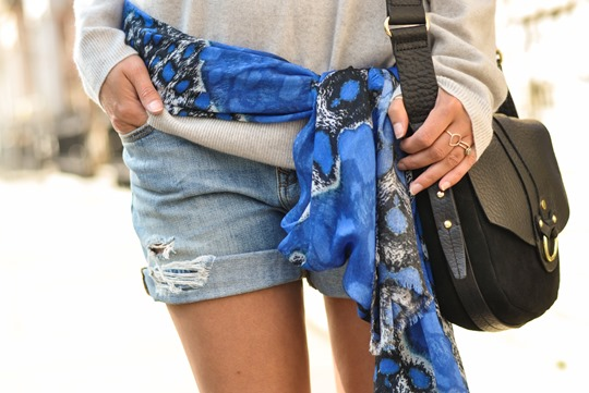 Thankfifi- Travel style in Mango cobalt blue suede jacket-6