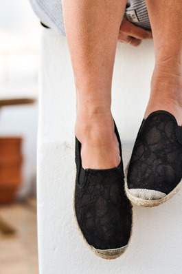 Thankfifi- Flossy lace espadrilles