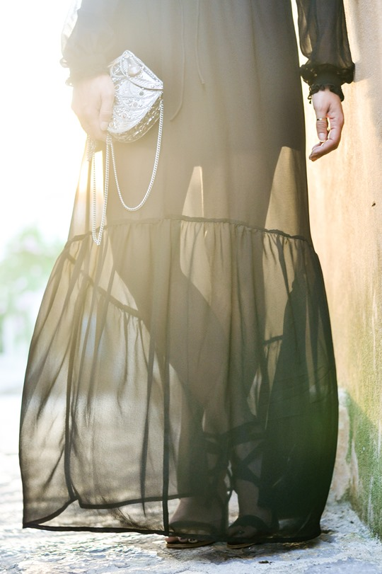 Thankfifi - Next black chiffon maxi dress #OrderByMidnight-7